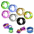 Flesh double flared Schraub Tunnel Plug Piercing Stahl / Titan  Color