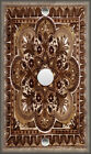 Metal Light Switch Plate Cover - Italian Tile Pattern - Fiore Brown Home Decor