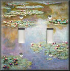 Light Switch Plate Cover - Monet - Water Lilies - Shaded - Floral Home Decor