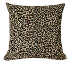 AL212a Black Light Brown Leopard Cotton Canvas Cushion Cover/Pillow*Custom Size*