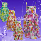 Girls Dress RA RA RUFFLE Summer Holiday Floral Dress Last one Bargain Age 1-2 Y