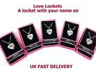 Personalised Name Love Lockets Necklace-Best Friend/I Love You/Princess/Angel