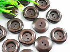 Wholesale 100/500PCS New 2 Hole Wood Buttons flower 25mm Sewing Craft