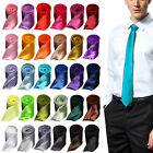 Mens Italian Business Classic Formal Solid Silk Satin Tie Necktie Wedding/Party