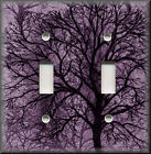 Contemporary light switch plates - Metal Light Switch Plate Cover - Contemporary Tree - Plum Purple - Home Decor
