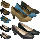 LADIES HIGH HEELS COURT FASHION SHOES WOMENS OFFICE SMART PARTY EVENING SIZE 3-8