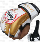 MMA Grappling Gloves Boxing Punch Bag Fight Cage Muay Thai Rex Leather White
