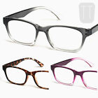 NEW RETRO RIMMED READING GLASSES READERS - STRENGTHS +1.5 +2.00 +2.50 +3.0 +3.5