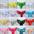 10pcs Satin Chair Cover Bow Sash Wedding Party Decor Banquet WED-SCS