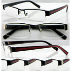 R415 Semi-Rimless Metal Reading Glasses +100+200+225+250+275+300+325+350+375+400