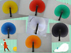 7pcs/14pcs handmade paper hand folding fan for party/wedding/home decoration