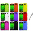 Color Hard Rubberized Cover Case+Metal Pen for Blackberry Torch 9850 9860