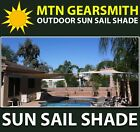 New Deluxe Rectangle Square Sun Sail Shade Canopy Top Cover Color Sand