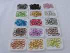 100 ROUND 5MM COLORED ALUMINUM JUMPRINGS 20 GAUGE OPEN JUMP RINGS