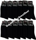 Lot  6 or 12 Pairs Wholesale Knocker Men's Black Color Dress Socks 9-11 10-13