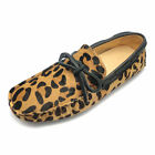 EU38-46 Leather tie slip on Leopard Casual Loafer driving mens shoes   [HA]