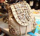 "A""OK New Choose Button bag tassel bucket rhinestone backpack women's handbag"