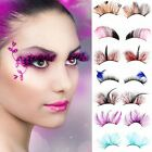 Party Fancy Soft Long Feather Girl Makeup False Eyelashes Eye Lashes Women
