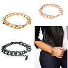 1pc Womens Girls New Trendy Punk Rock Chain Link Simple Bracelet 3 Colors Hot
