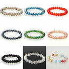 Fashion Mixed 5 pcs Strech Manual Crystal Bracelets  Beads AB Multi Color 8MM