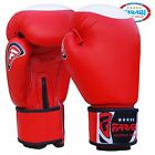 TOP QUALITY COWHIDE LEATHER BOXING SPARRING GLOVES RED