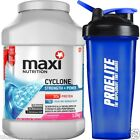 Maximuscle Cyclone 1.2kg / 1200g - All Flavours + Shaker - Protein ZMA Glutamine