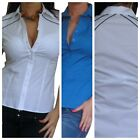 New Blouse Womens Shirt Tops Casual Ladies White Sexy Top Size 10 12 14 16 18 20