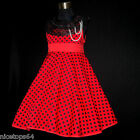 R3122 Girl Red Halloween Thanksgiving Christmas Party Girls Dress SZ 2,4,6,8,10T