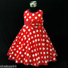 R3121 Red Thanksgiving Christmas Garden Party Girls Dress SZ 2,3,4,5,6,7,8,9,10T