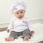 Cook Style Boy's Girl's Tops + Pants+ Hat Outfits 1-3Y 3PCS #104