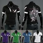 Hot New Shirt Men's Casual Trendy Eagle Tattoo Printed Design T-Shirts Cool DL0