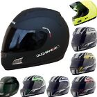 Duchinni Sharp 4* D701 Road/Track Motorbike Motorcycle Helmet+Coloured Visor
