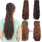 New Woman Long Wavy Curly Ponytail Clip Horsetail Hair Extensions Headwear KP41