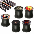 ear tunnel set Stretcher Kit Taper Plugs Expanders Double Flared Logo 2Pcs 9HSZ