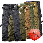 Mens Casual Military Army Style CARGO CAMO Combat Work Pants Trousers