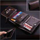 New $100 Men's Top ITALIAN Genuine Leather Trifold Wallet Purse Luxury 2 Colors