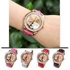 Women's Girl's Lover's Champagne Analog Eiffel Tower Quartz Leather Wrist Watch