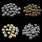 100 x Fashion Pyramid Shape Metal Clothing Studs Rock,Punk