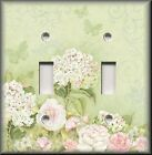 Light Switch Plate Cover - Roses And Butterflies - Floral Home Decor