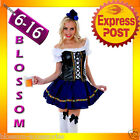 I19 Oktoberfest Beer Corset Costume Bavarian German Maid Fancy Dress Womens Out