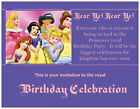 Disney PRINCESS Cinderella Snow White BIRTHDAY Party INVITATIONS Flat Cards Env
