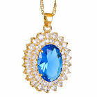 Wedding Jewelry Oval Cut Yellow Gold P Pendant Free Necklace