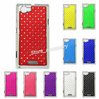 Crystal Diamond Blings Hard Back Case Cover Fit Sony Xperia L S36h C2104/C2105
