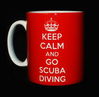 NEW KEEP CALM AND GO SCUBA DIVING GIFT MUG CUP PRESENT DIVER