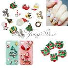 5pcs 3D Nail Art Tips Alloy Rhinestone Glitters Christmas Theme Phone Decoration