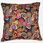 LF303a Yellow Blue Flower Pure Cotton Canvas Fabric Cushion Cover/Pillow Case