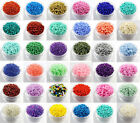 45g(about 1350pcs) Cezch Glass Seed Beads Spacer Beads Solid Colors DIY Bead