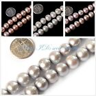 jewelry making 10-11mm round white pink grey freshwater pearl gemstone beads 15""