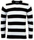 NEW MENS RETRO 60s BLOCK STRIPED BRIAN JONES JUMPER Straight Collar Breton MC136