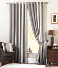 whitworth lined eyelet ring top curtains charcoal silver